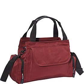 EW Top Zip Handbag Mini Duffle BURG