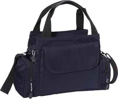 Derek Alexander EW Top Zip Handbag Mini Duffle Navy - Derek Alexander Fabric Handbags