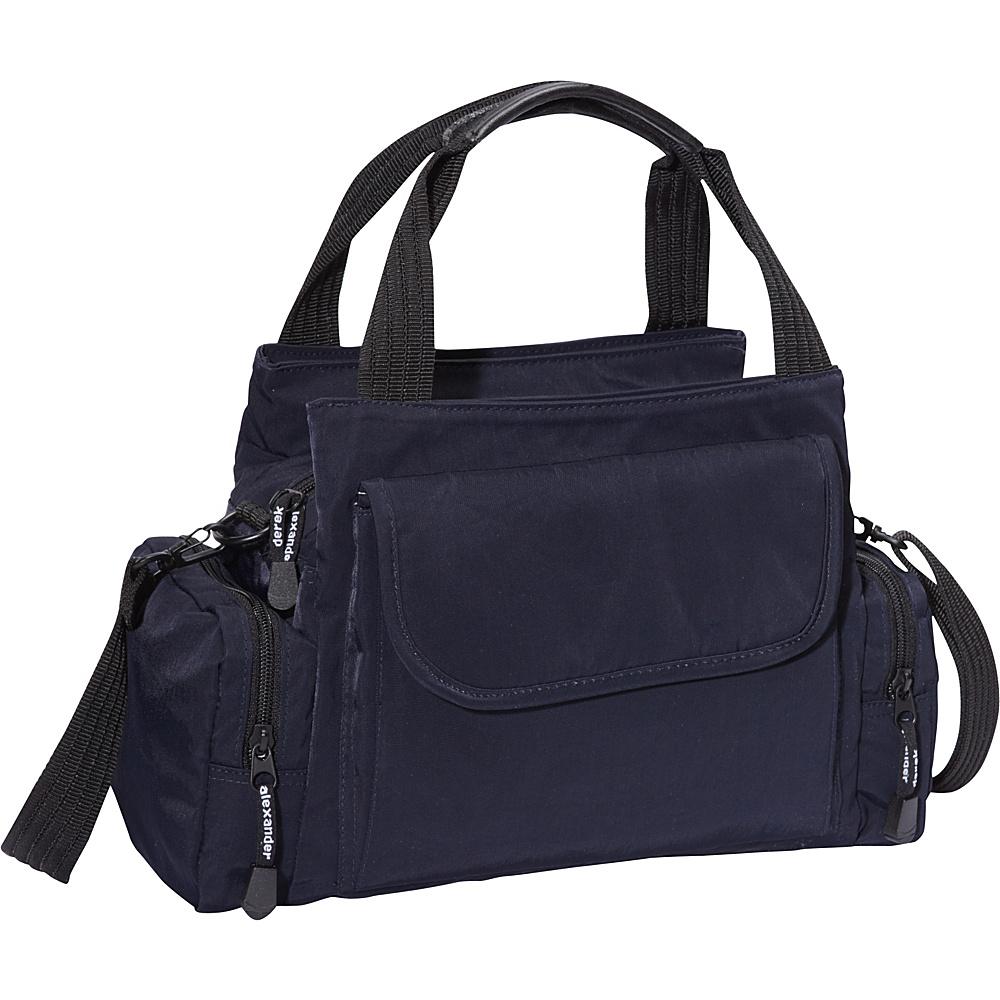 Derek Alexander EW Top Zip Handbag Mini Duffle Navy - Derek Alexander Fabric Handbags - Handbags, Fabric Handbags