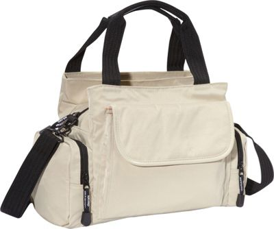 Derek Alexander EW Top Zip Handbag Mini Duffle Tan - Derek Alexander Fabric Handbags