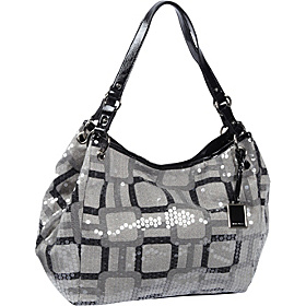Vegas Photo Print Shopper Black-Natural/Black
