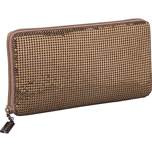Whiting and Davis Clutch Wallet With Checkbook Insert Bronze