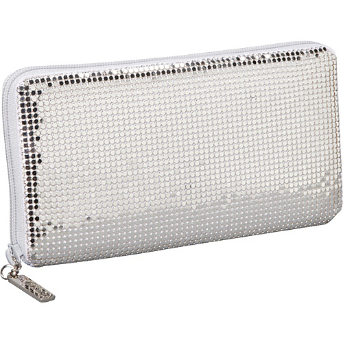 Whiting and Davis Clutch Wallet With Checkbook Insert Silver