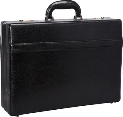Mancini Leather Goods 1 inch Expandable Attach Case Black - Mancini Leather Goods Non-Wheeled Business Cases