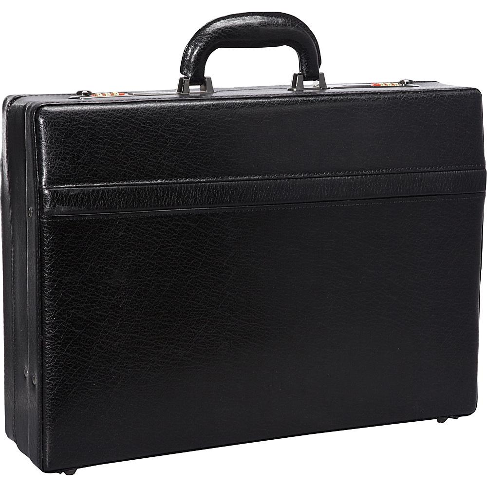 "Mancini Leather Goods 1"" Expandable Attach Case Black - Mancini Leather Goods Non-Wheeled Business Cases"