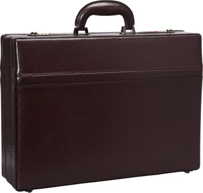 Mancini Leather Goods 1 inch Expandable Attach Case Burgundy - Mancini Leather Goods Non-Wheeled Business Cases