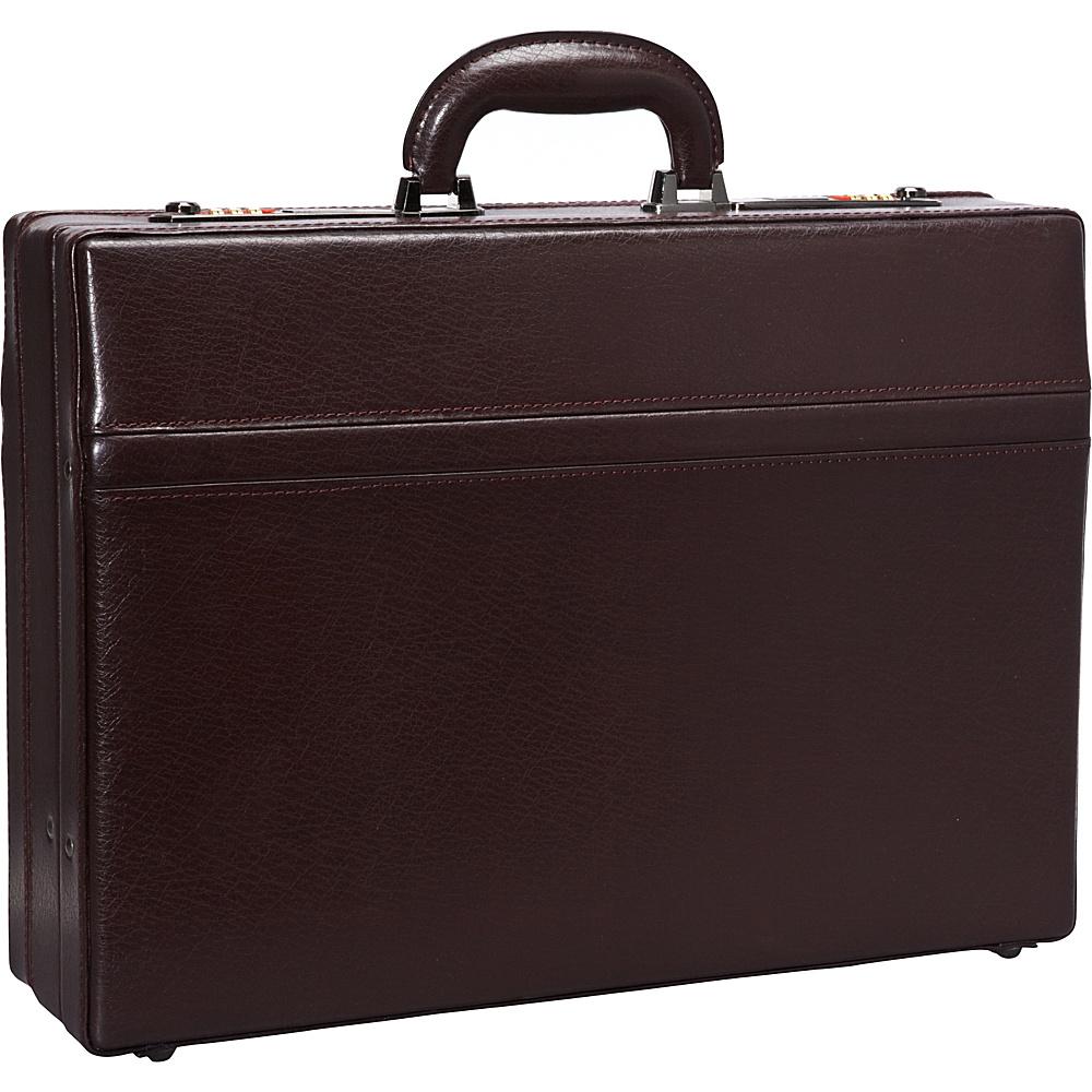 "Mancini Leather Goods 1"" Expandable Attach Case Burgundy - Mancini Leather Goods Non-Wheeled Business Cases"