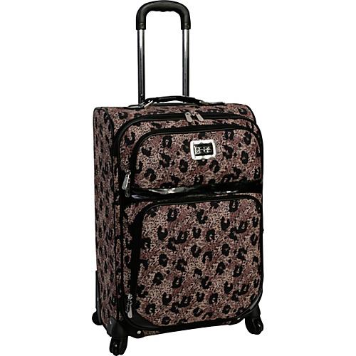 "Jessica Simpson Luggage Leopard 24"" Exp. Upright Khaki - Jessica Simpson Luggage Large Rolling Luggage"