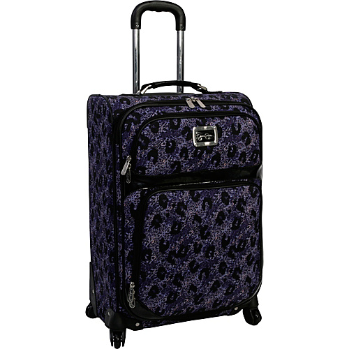 "Jessica Simpson Luggage Leopard 24"" Exp. Upright Purple - Jessica Simpson Luggage Large Rolling Luggage"