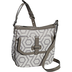 Hexagon 9s Jacquard Medium Crossbody Grey/Dove