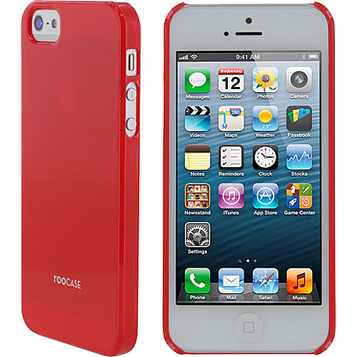 rooCASE Ultra Slim Gloss Shell Case for iPhone 5 Red - rooCASE Personal Electronic Cases