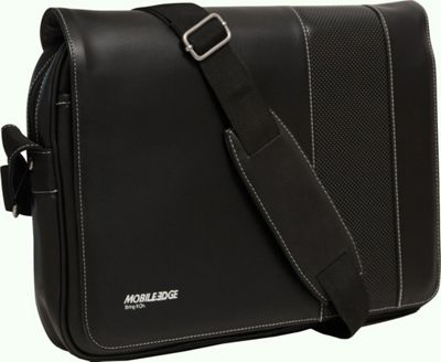 Mobile Edge Slimline Ultrabook Messenger- 14.1 inch PC / 13 inchMacBooks Black/White - Mobile Edge Messenger Bags