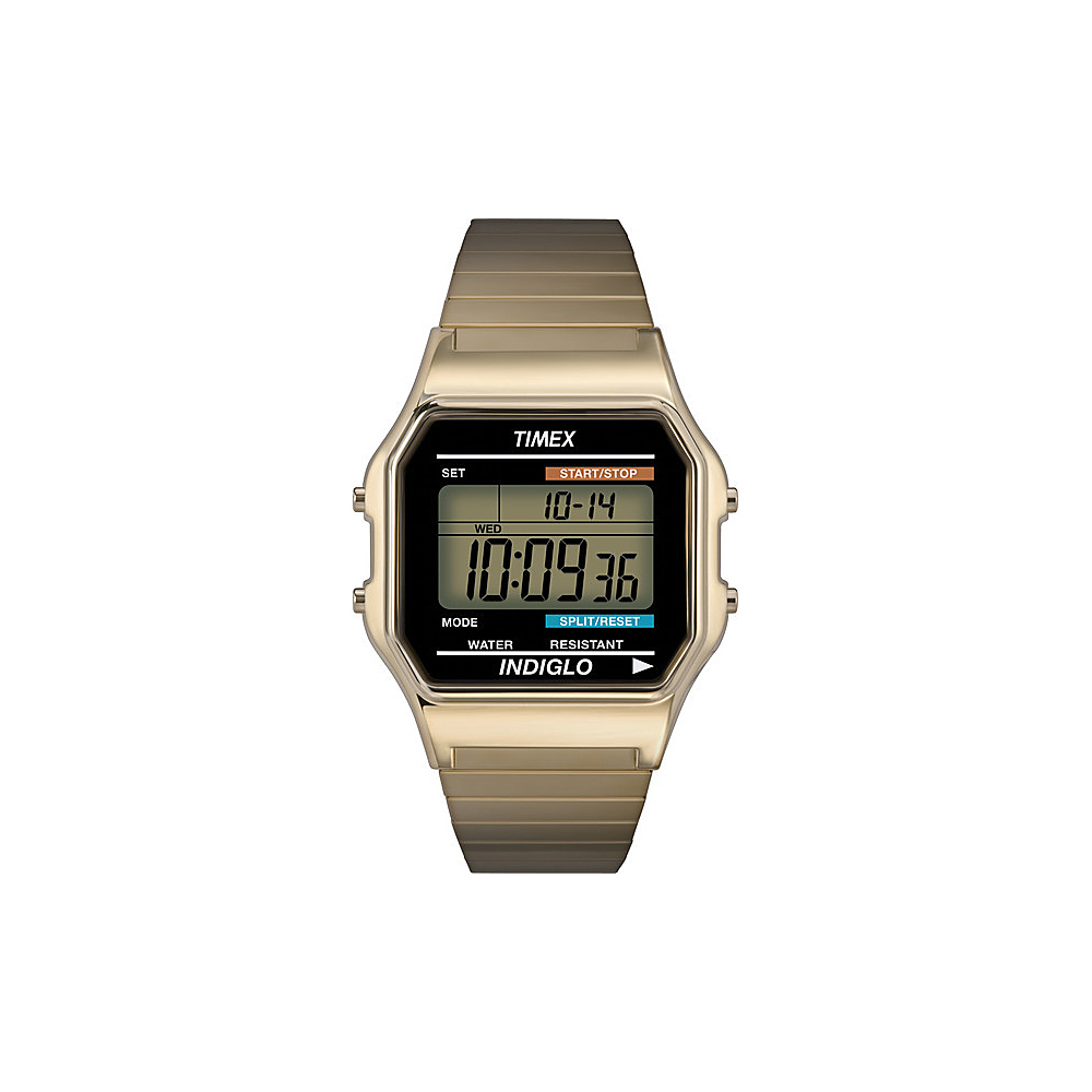 Timex Men's Digital Watch Goldtone - Timex Watches