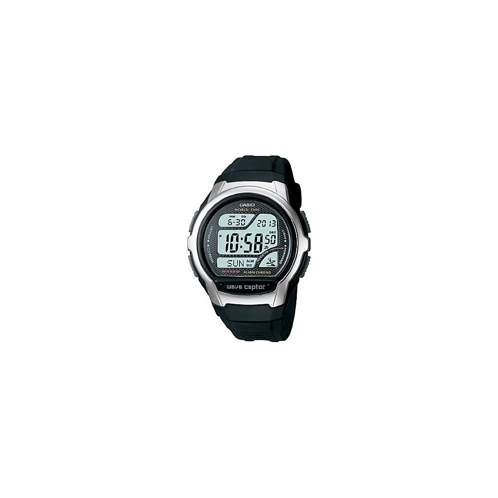 Casio Men's Atomic Timekeeping Sport Watch Black - Casio Watches