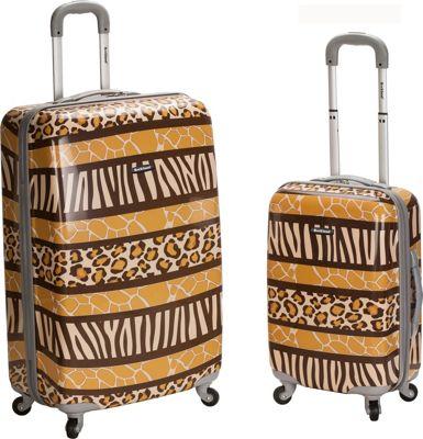 Rockland Luggage Safari 1 - 2 Piece Hardside Luggage Set Animal - Rockland Luggage Luggage Sets