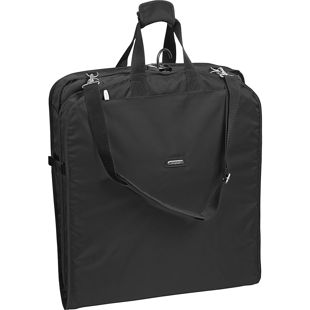 "Wally Bags 45"" Large Shoulder Strap Garment Bag Black - Wally Bags Garment Bags"