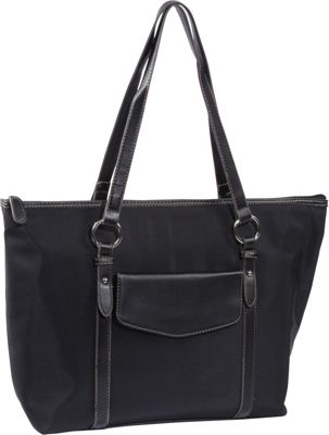Image of Accessory Street Casual Marleen Laptop Tote Black - Accessory Street Ladies' Business