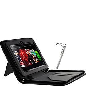 "Executive Leather Case w/ Stylus for Kindle Fire HD 8.9"" Black"