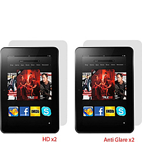 "4-Pk Screen Protectors for Kindle Fire HD 8.9"" AGHD"