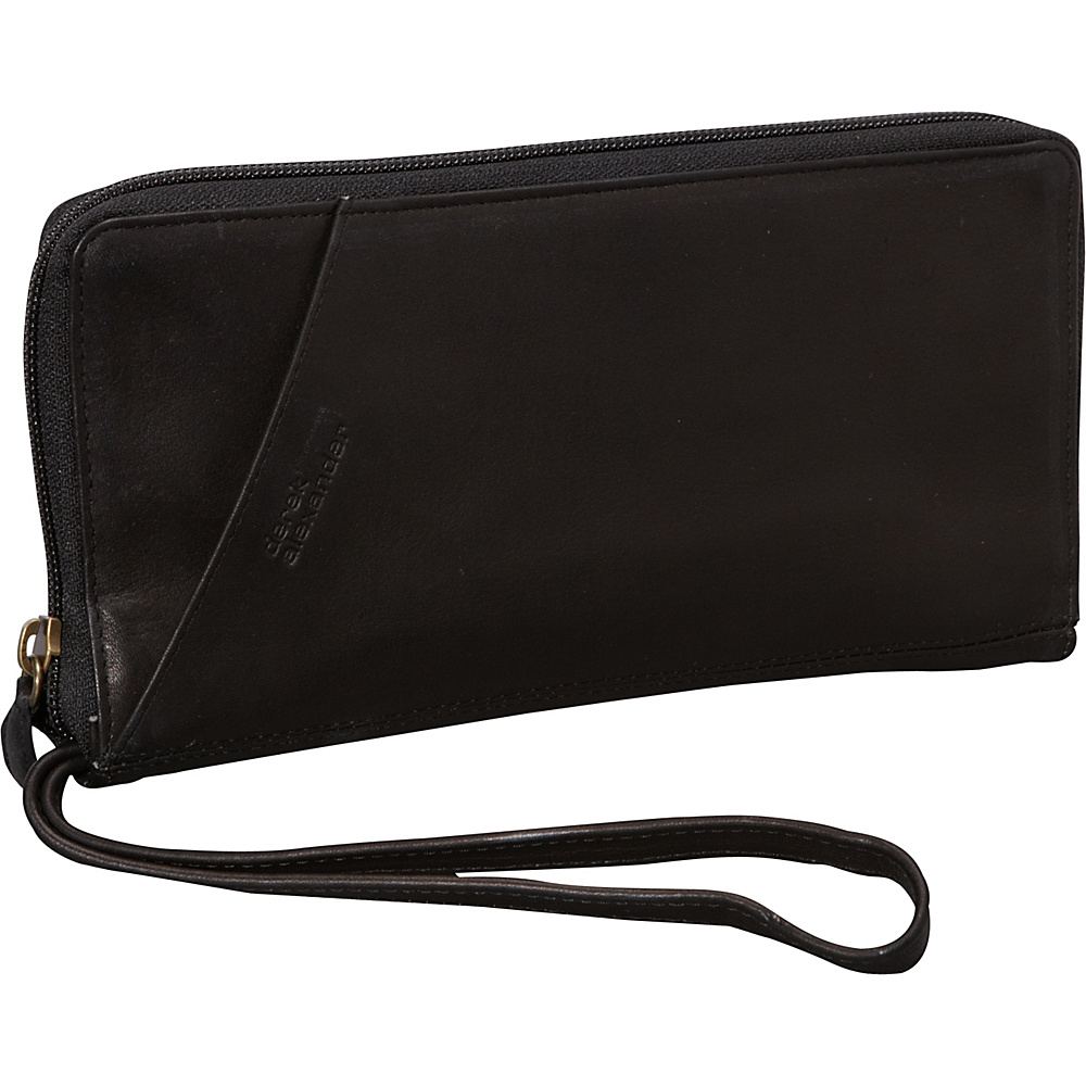 Derek Alexander Multi Compartment Travel Wallet Black - Derek Alexander Travel Wallets