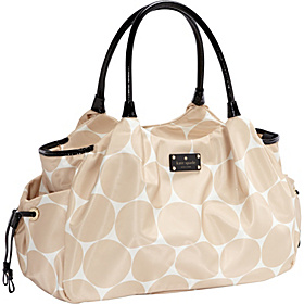 Deborah Dot Nylon Stevie Baby Bag Perfect Beige