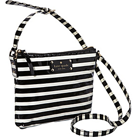 Kate Spade Stripe Tenley Crossbody Black/Cream