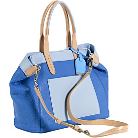 Crosby Colorblock Small Shopper Blue Topaz