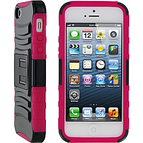 T2 Hybrid Armor Case for iPhone 5 Magenta