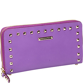 Luma Large Zip Wallet With Studs Purple