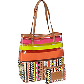Can't Stop Shopper Large Tall Tote Pink Multi