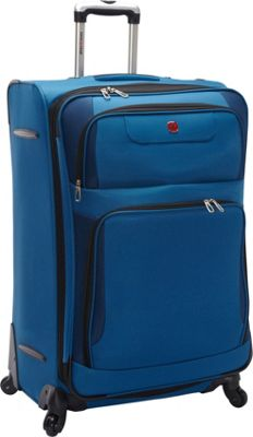 SwissGear Travel Gear Expandable Spinner Luggage - 28 inch Blue with Black - SwissGear Travel Gear Softside Checked