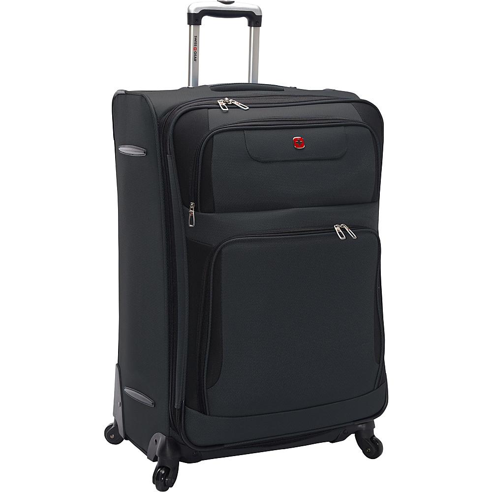 SwissGear Travel Gear 28 Expandable Spinner Grey with Black SwissGear Travel Gear Softside Checked