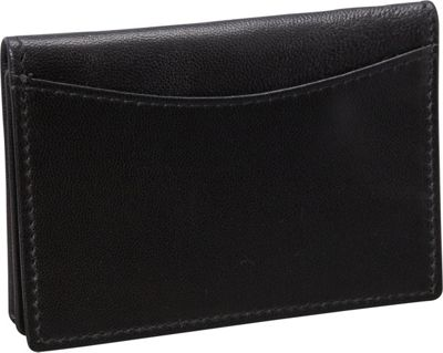 Budd Leather Nappa Soft Leather Business Card Case Black - Budd Leather Business Accessories