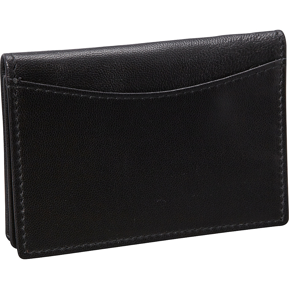 Budd Leather Nappa Soft Leather Business Card Case Black Budd Leather Business Accessories