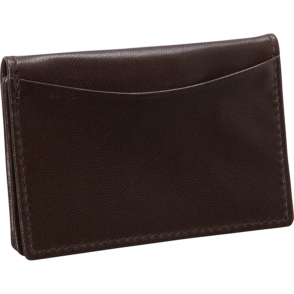 Budd Leather Nappa Soft Leather Business Card Case Brown Budd Leather Business Accessories