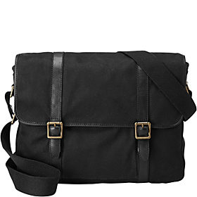 Estate E/W Canvas City Bag Black