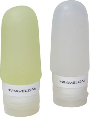 Travelon Smart Tubes Set of 2  2oz. Green/Clear - Travelon Toiletry Kits