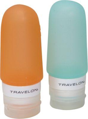 Travelon Smart Tubes Set of 2  2oz. Orange/Blue - Travelon Toiletry Kits