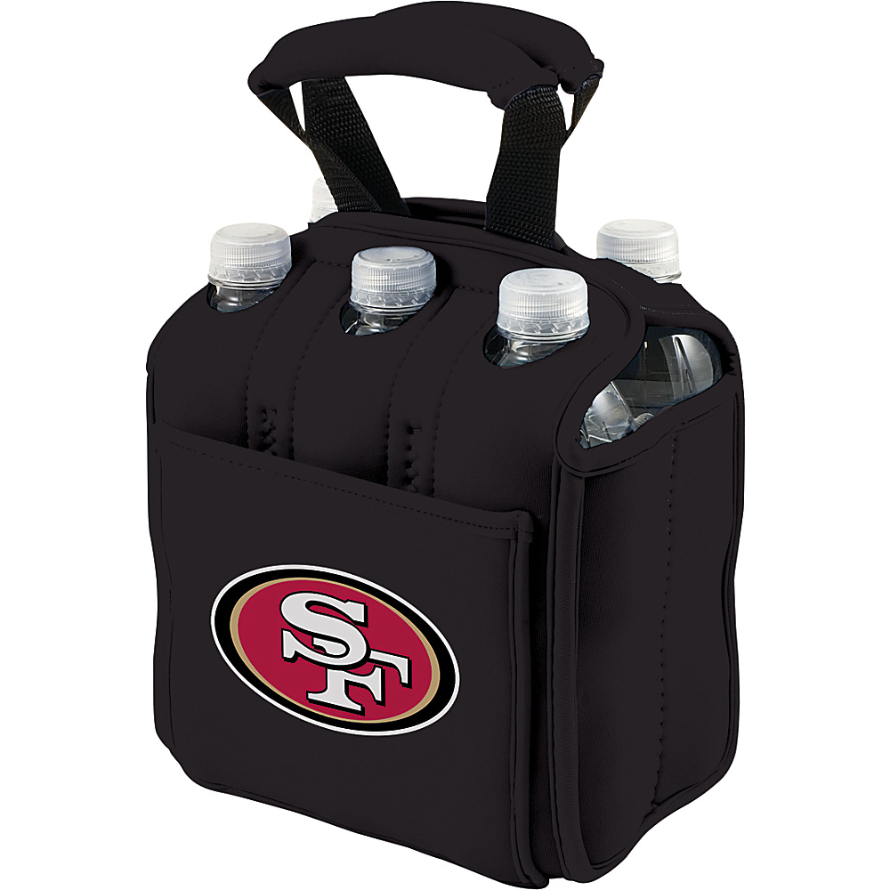 Picnic Time San Francisco 49ers Six Pack San Francisco 49ers Black - Picnic Time Outdoor Accessories - Outdoor, Outdoor Accessories