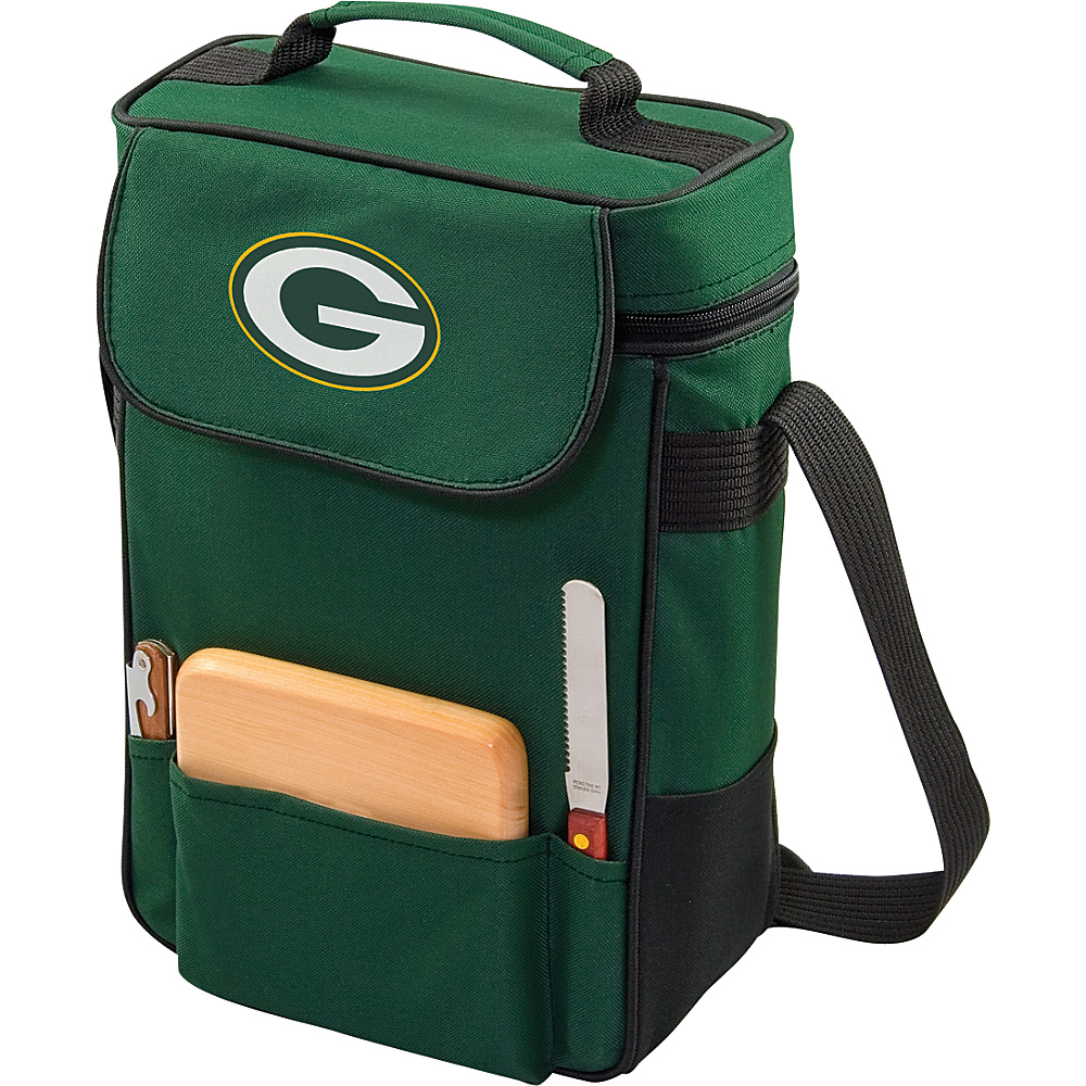 Picnic Time Green Bay Packers Duet Wine & Cheese Tote Green Bay Packers Hunter - Picnic Time Travel Coolers