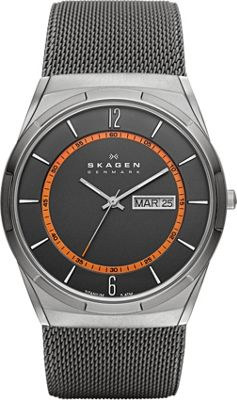Skagen Grey Mesh Titanium Men's Watch Grey - Skagen Watches