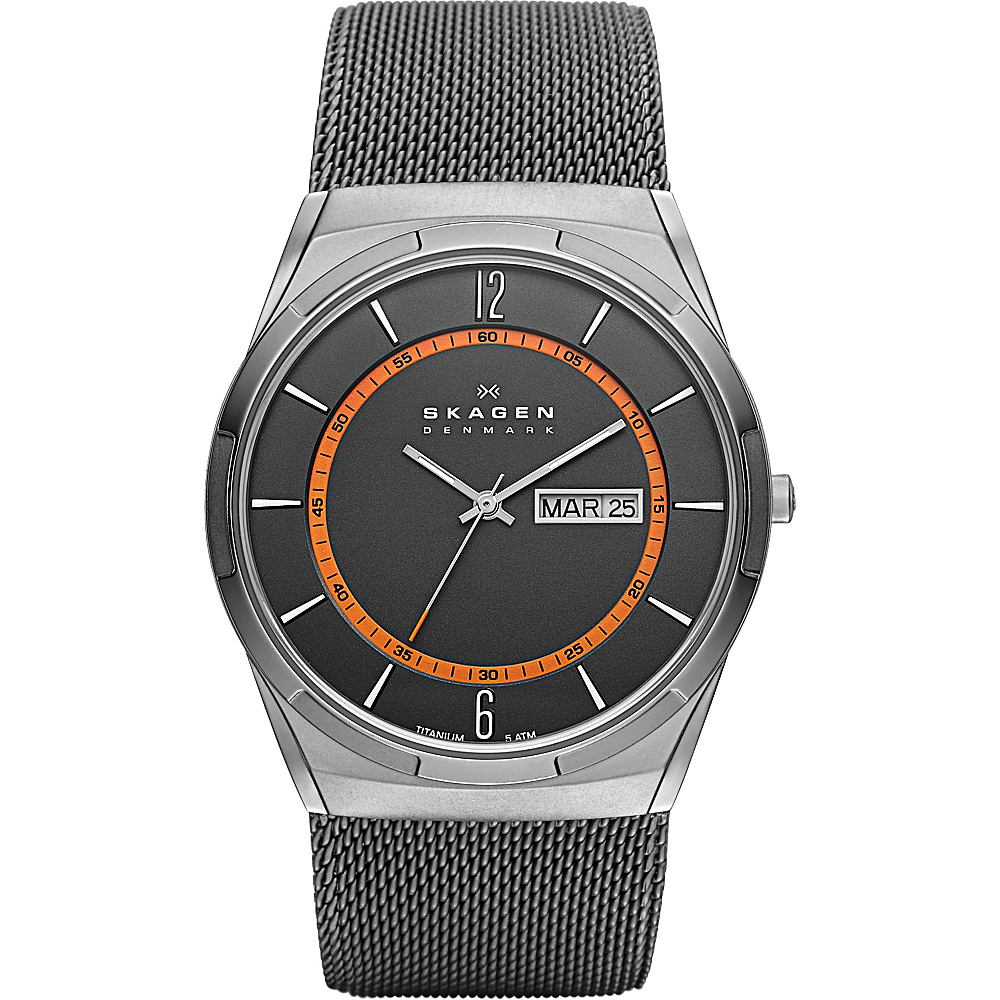 Skagen Grey Mesh Titanium Men s Watch Grey Skagen Watches