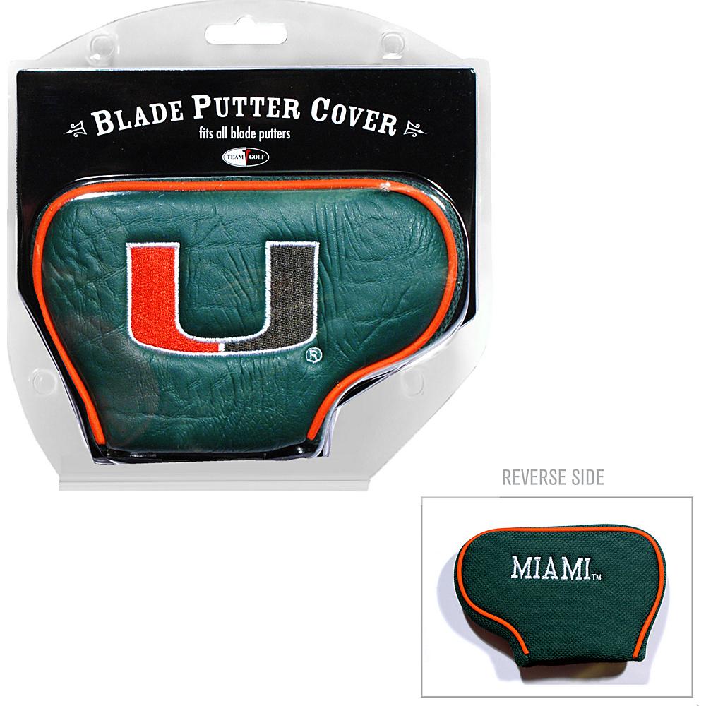 Team Golf USA University of Miami Hurricanes Blade Putter Cover Team Color - Team Golf USA Golf Bags