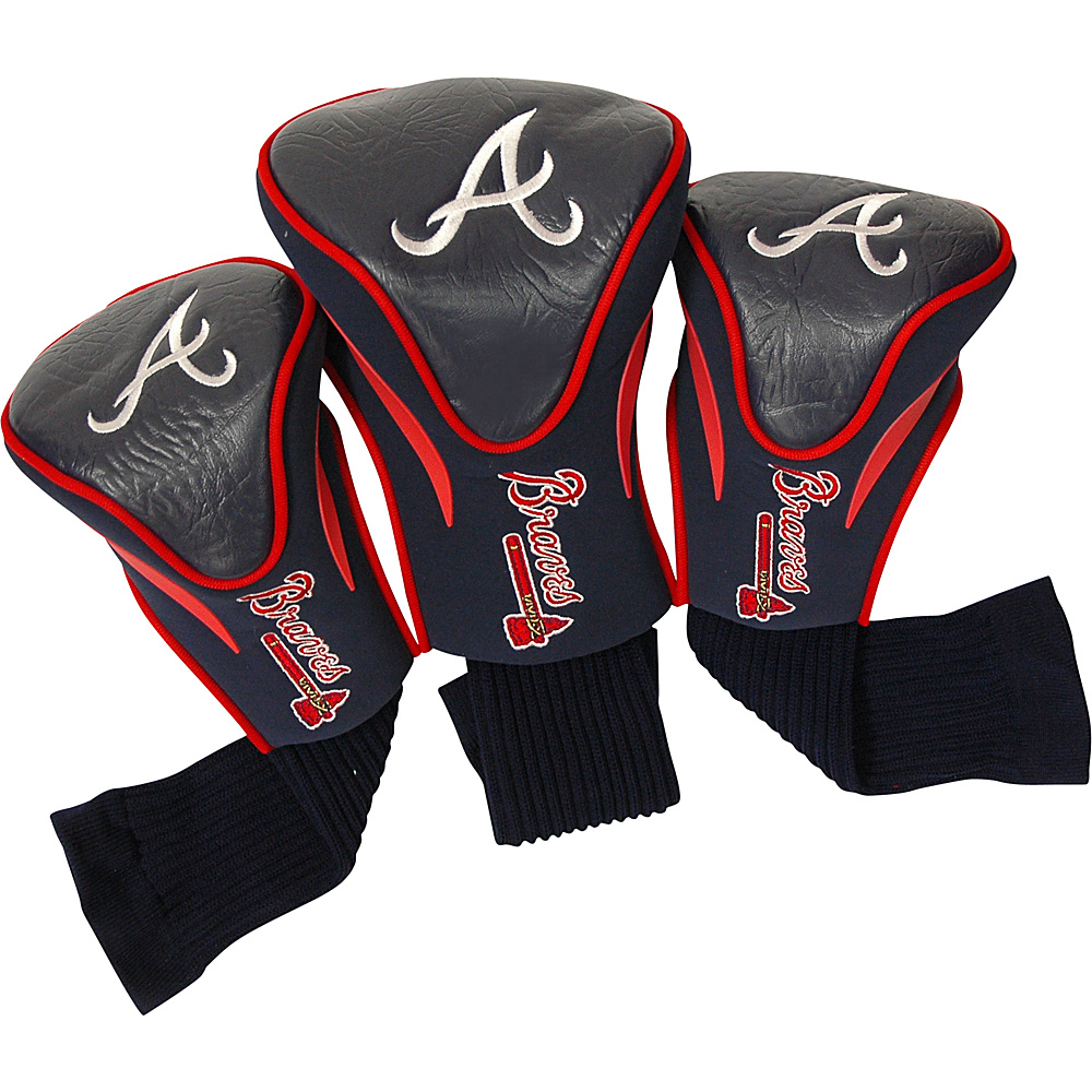 Team Golf USA Atlanta Braves 3 Pk Contour Head Cover Team Color - Team Golf USA Golf Bags
