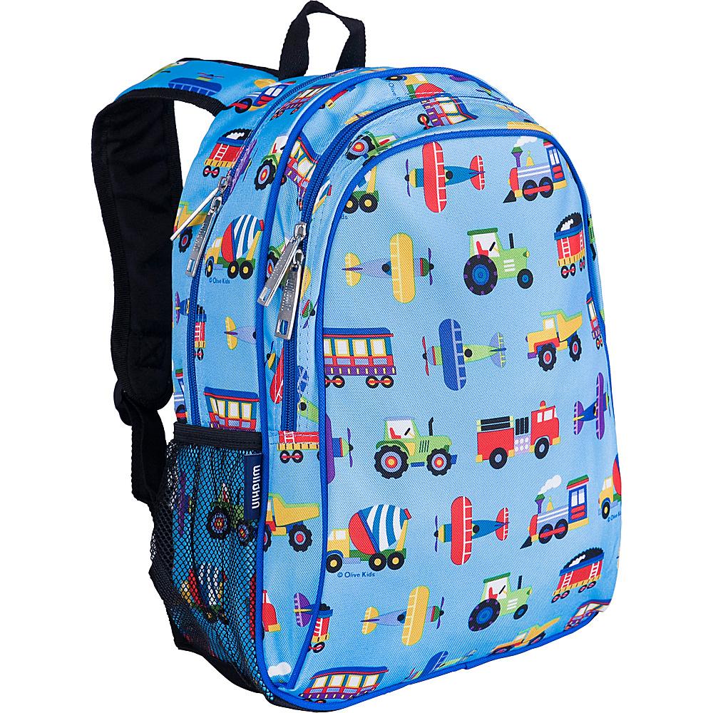 Wildkin Olive Kids Trains Planes & Trucks Sidekick - Backpacks, Kids' Backpacks