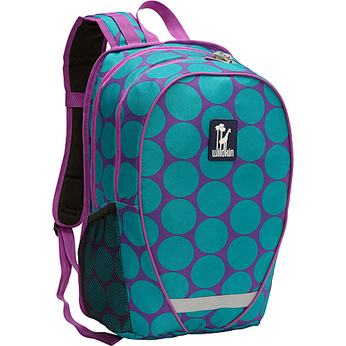 Wildkin Big Dot Aqua Comfortpak Backpack Big Dots Aqua - Wildkin School & Day Hiking Backpacks