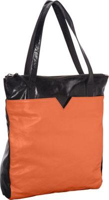 Latico Leathers Ingrid Tote Salmon/Espresso - Latico Leathers Leather Handbags