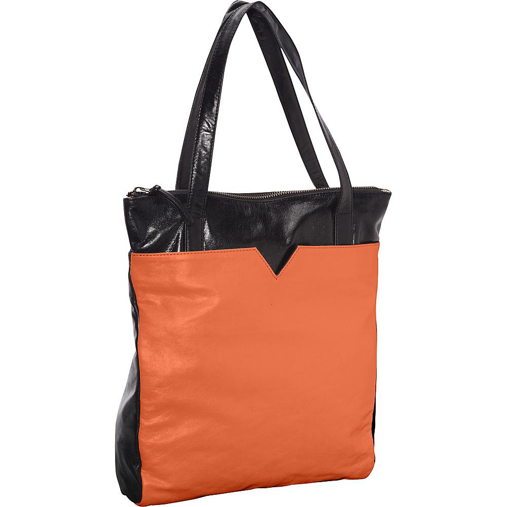 Latico Leathers Ingrid Tote Salmon/Espresso - Latico Leathers Leather Handbags - Handbags, Leather Handbags