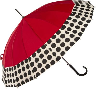 ShedRain ShedRain 16 Panel Auto Stick Umbrella - Spot On Red/Spot On - ShedRain Umbrellas and Rain Gear
