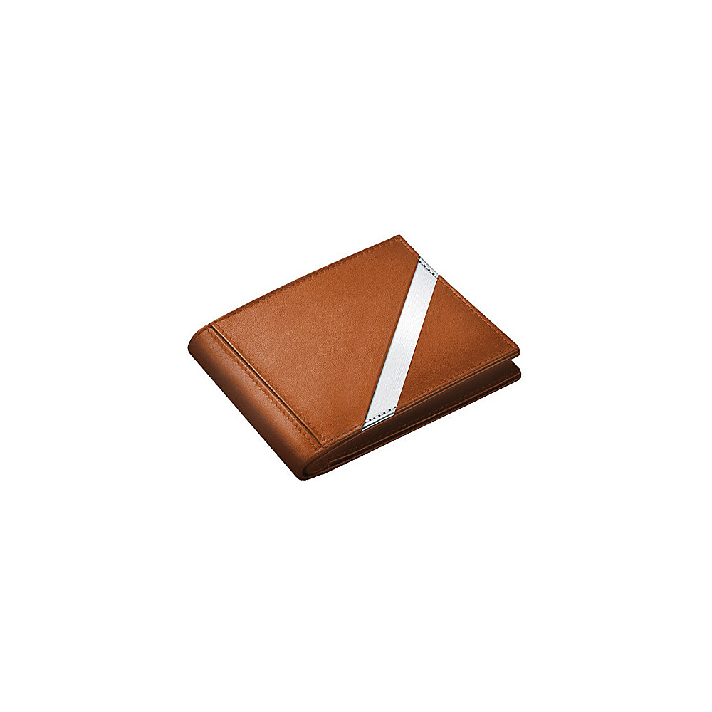 Stewart Stand Leather Tech Bill Fold Stainless Steel Wallet RFID Tan Stewart Stand Men s Wallets